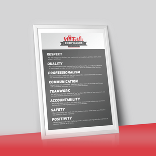 Justin Time Core Values Poster