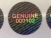 Custom stickers, custom holograms, custom hologram stickers, custom security stickers