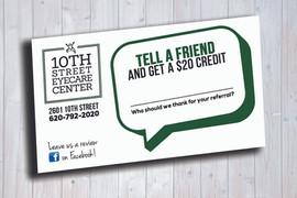 10th Street Eyecare Referral Cards