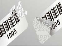 Security void labels barcoded for asset protection