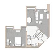 1 Bedroom Unit - Floor Plan B