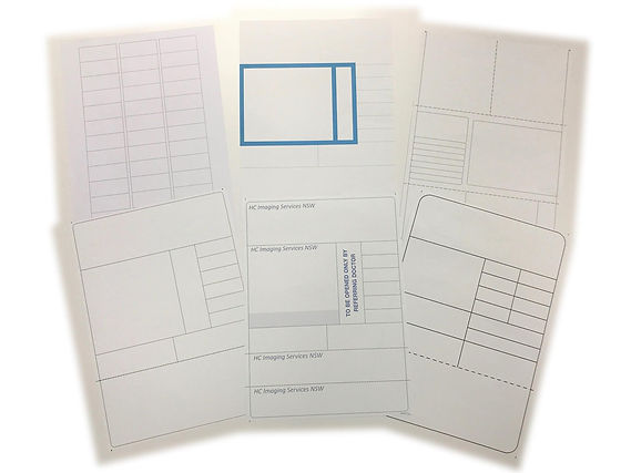 A4 Sheets of labels for using in x-ray and imaging centres, orfor patient information records. Self adhesive labels in sheets for laser printers