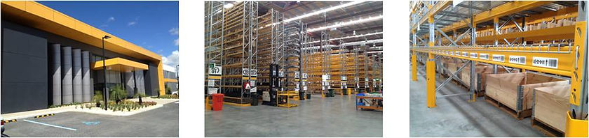 Warehouse racking location labels printed and applied