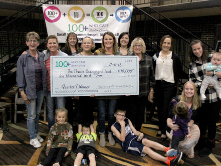 The Prairie Godmother Funds Receive Over $10,000 from Members of 100+ People Who Care