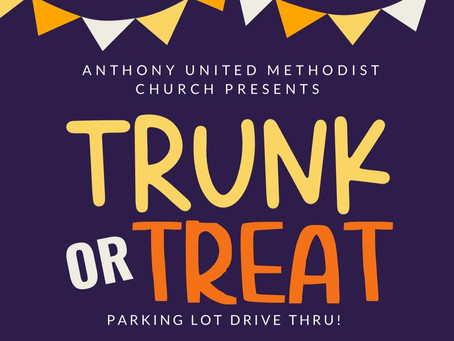 Trunk or Treat Oct. 31st