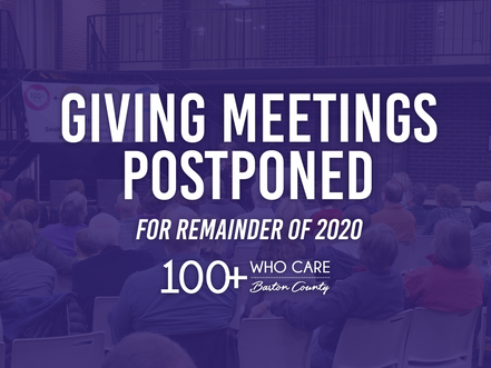 Giving Meetings Postponed for 2020 Calendar Year