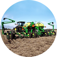 Planter in field with LiquiShift