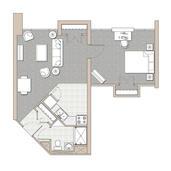 1 Bedroom Unit - Floor Plan C