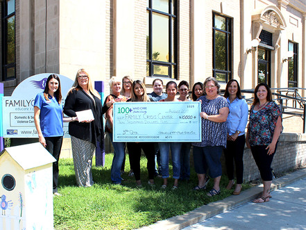 Family Crisis Center Receives Over $10,000 in Donations from Members of 100 People Who Care
