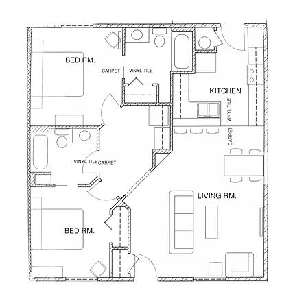 Floor Plan - 2-bedroom - Penn Place_Page