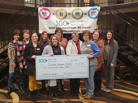 Central Kansas CASA Receives $9,500 from Members of 100+ People Who Care Group