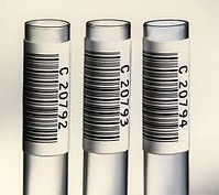 Labels for test tubes, pathology, biochemistry, heamatology vial labelling