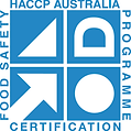 HACCP Certified tags for use in meat processing environments. Our carcass tgas and meat inserts have been certified by HACCP Australia as being suitable for direct food contact (FZP).