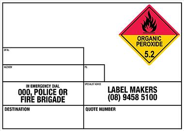 Emergency information panels, labels, hazchem, and chemical labels