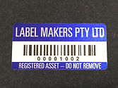 Asset stickers, asset labels, barcode stickers, stickers with barcodes, custom labels