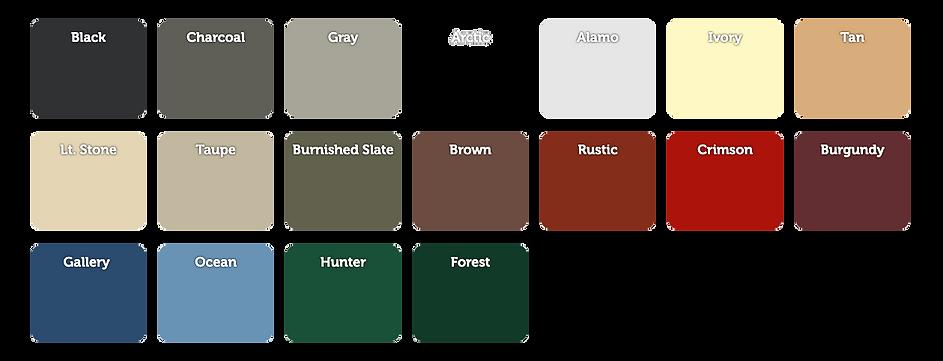 Vap Construction Barn Color Options