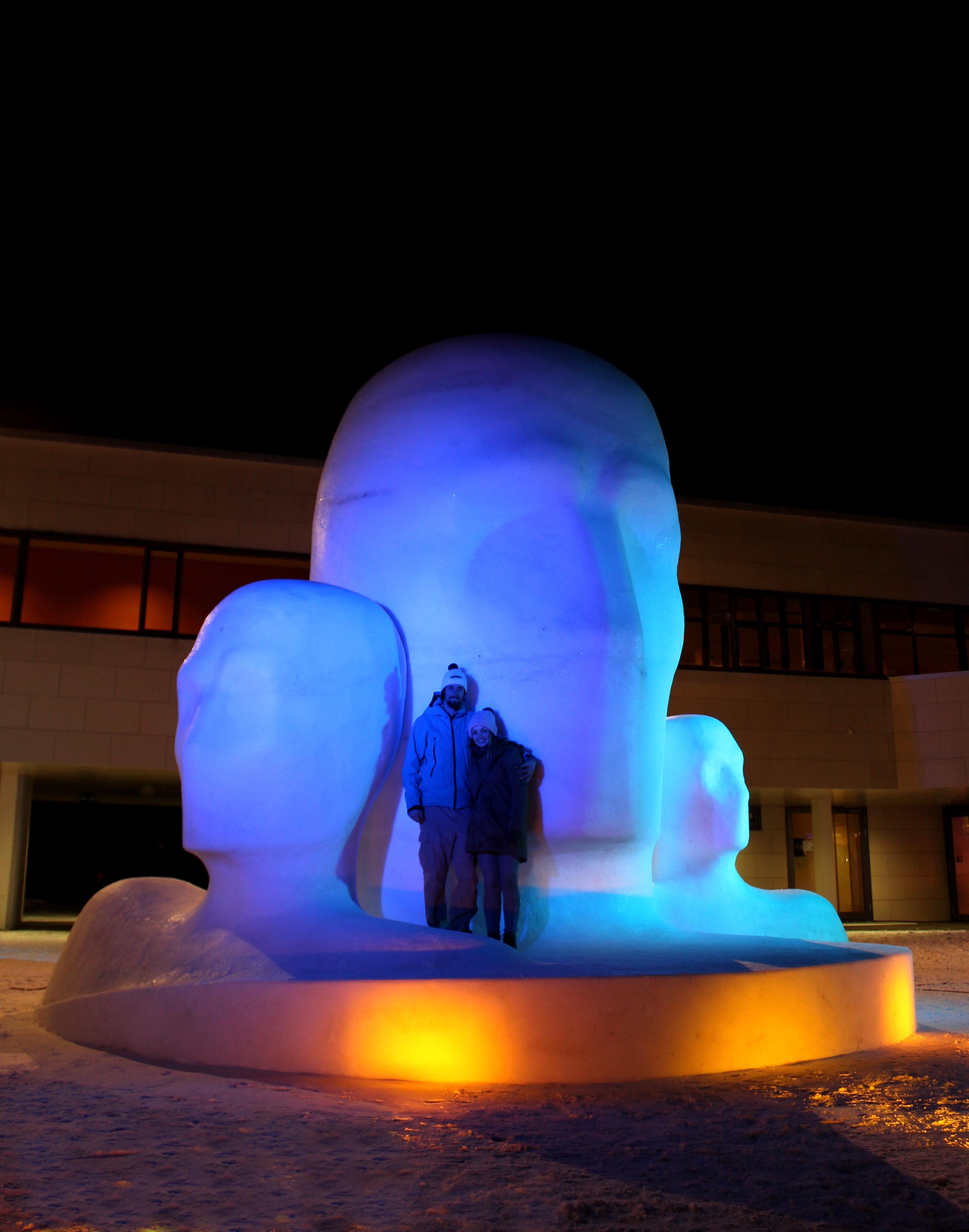 Schneeskulptur für ARt on Snow 2015