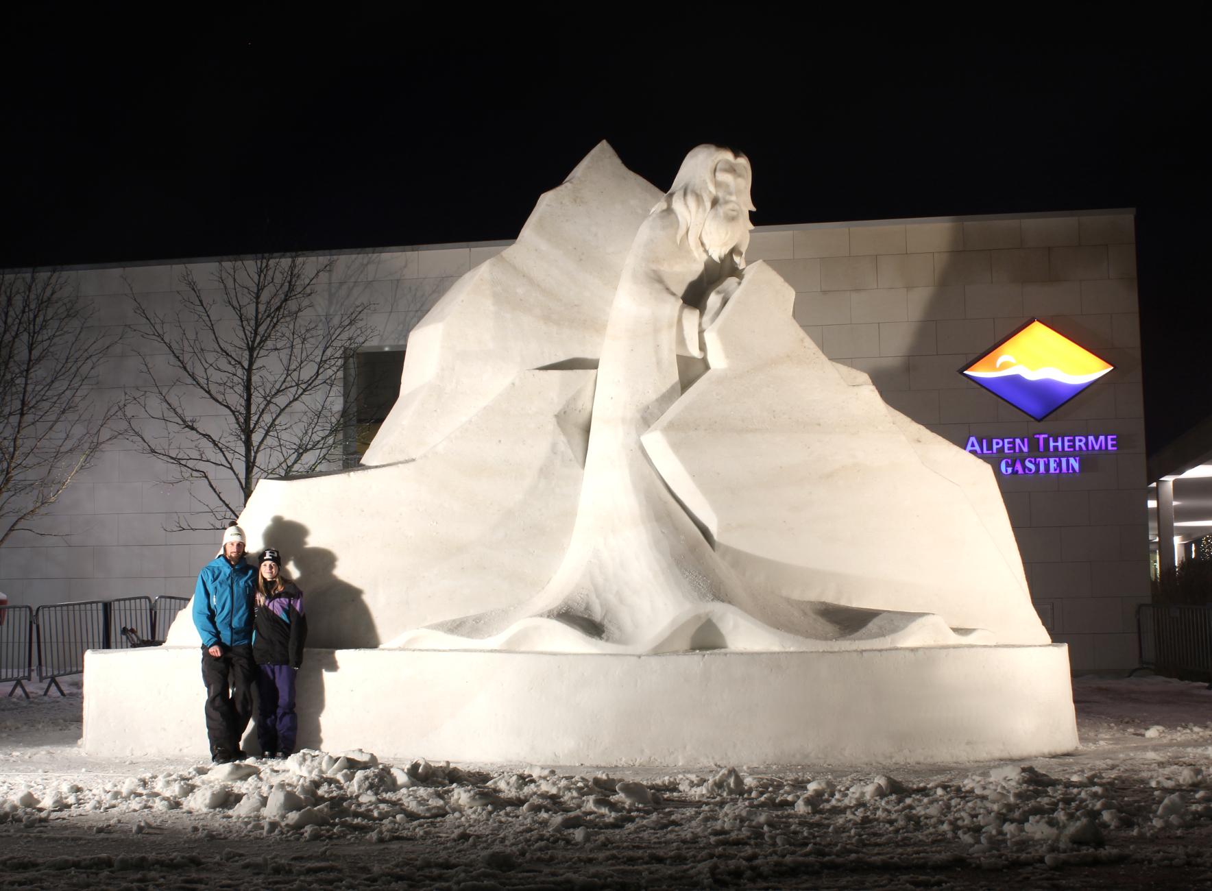 Schneeskulptur für ARt on Snow 2016