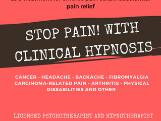 STOP PAIN!                                    Evidence for the Success of Hypnotherapy as a Treatmen