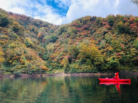 百秋湖の秋