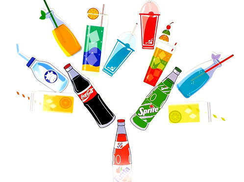 Soft drinks bookmarks (pk of 10)