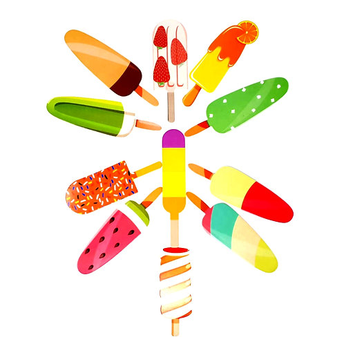 Ice lolly paper bookmarks     (pk of 10)