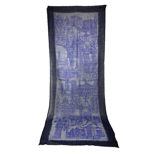 London CityLife Scarf - Navy Blue Violet