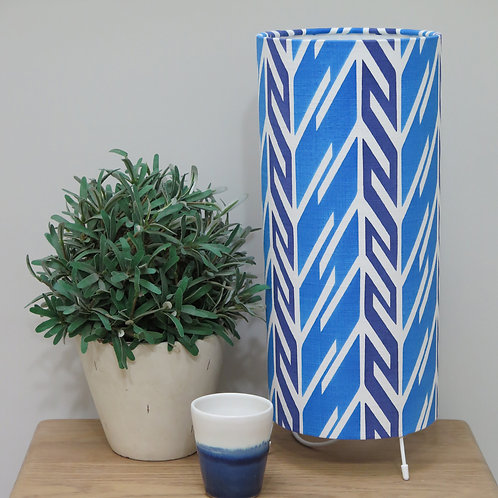 Butterfly Stripe Tube Table Lamp - Royal & Prussian Blue