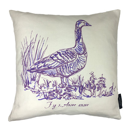Goose Country Life Linen Union Cushion - Violet