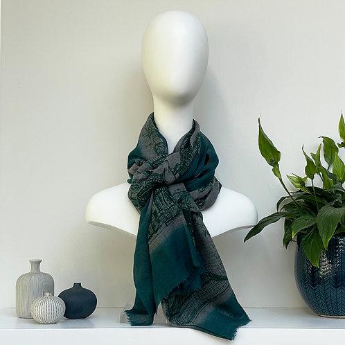 CityLife Scarf - Emerald Grey Emerald