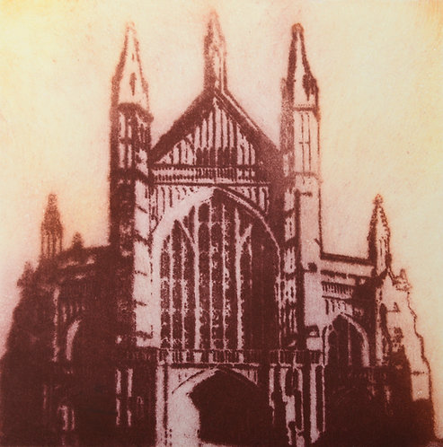 Winchester Cathedral V - Aquatint Etching