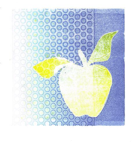 Apple & Dots - Linocut