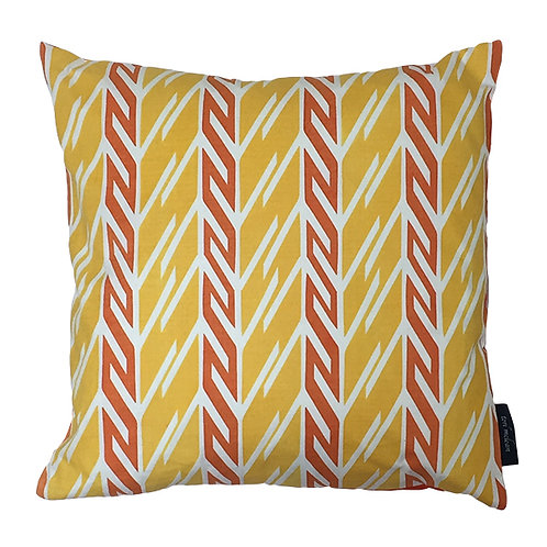 Butterfly Stripe Cushion - Yellow & Orange