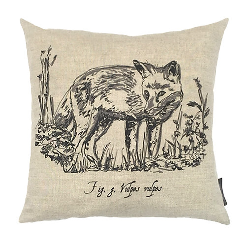 Fox Country Life Linen Cushion  - Beige