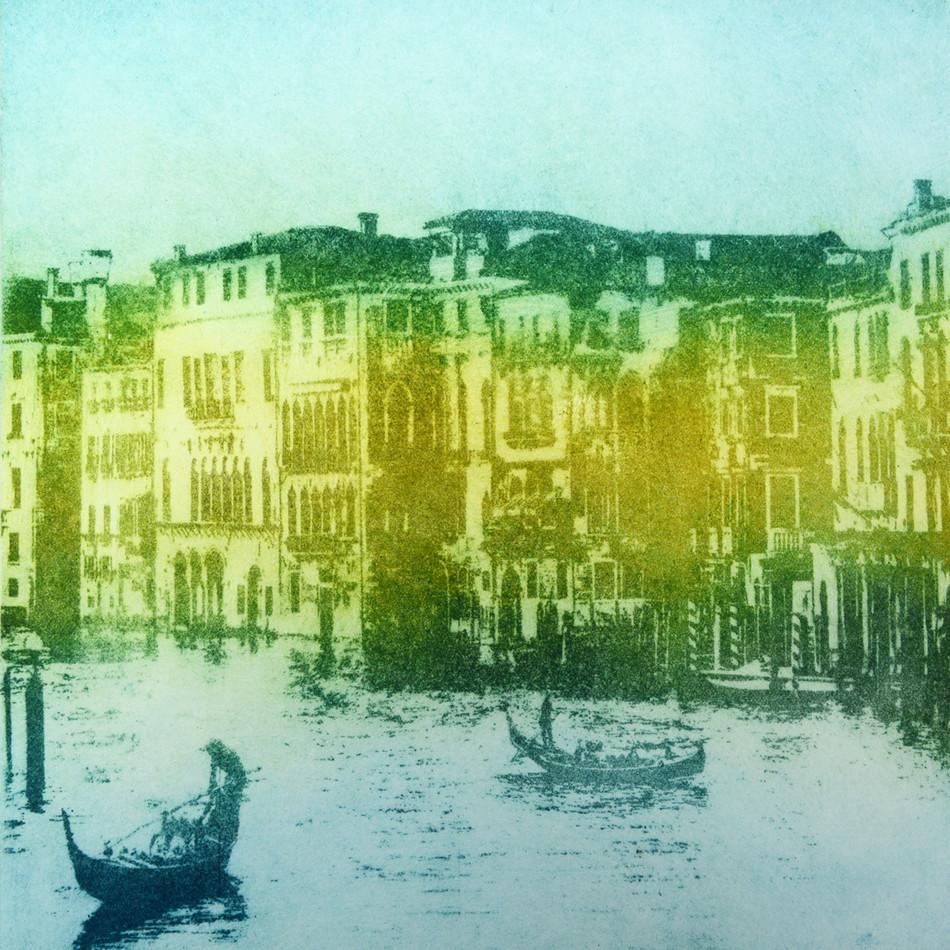 Tori McLean Aquatint Etching of Venice Grand Canal