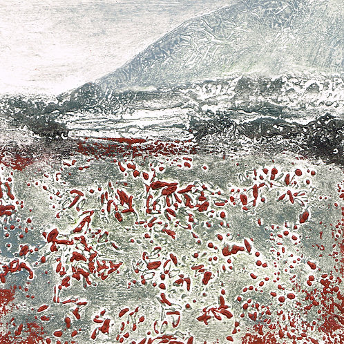 Winter's Meadow II - Collagraph