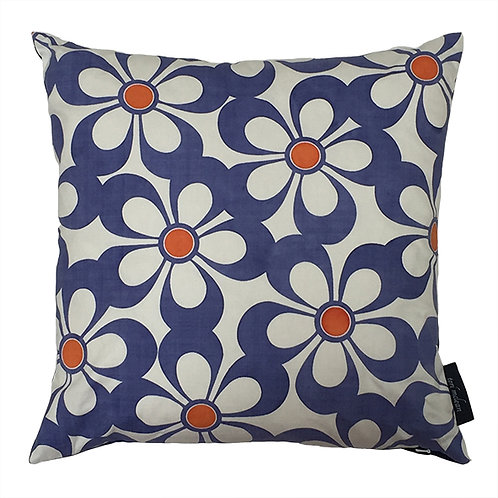 Daisy Cushion - Indigo