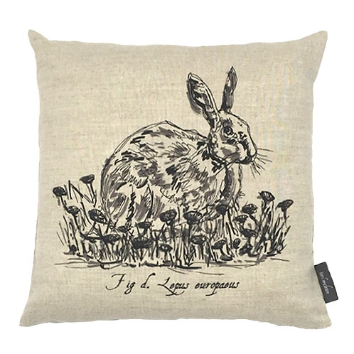 Hare Country Life Linen Cushion - Beige
