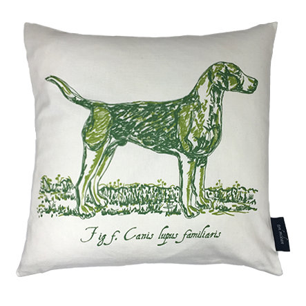 Hound Country Life Linen Union Cushion - Green