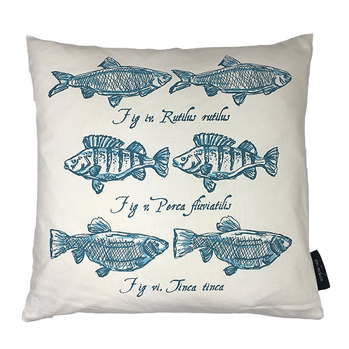 Perch Country Life Linen Union Cushion - Teal