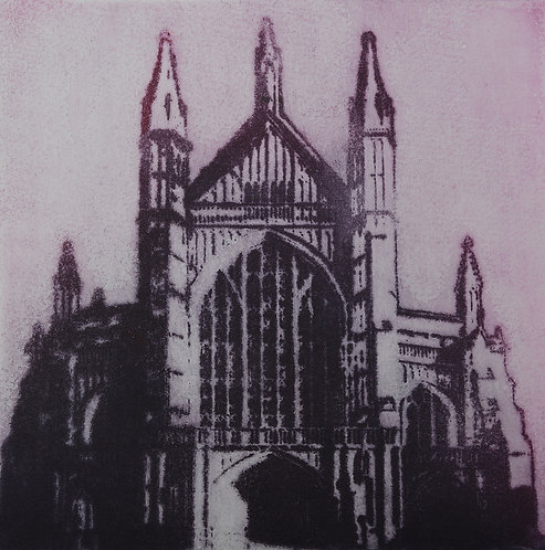 Winchester Cathedral II - Aquatint Etching
