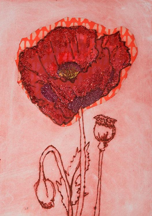 Poppy II - Drypoint