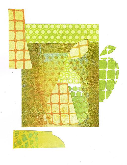 Apple & Pear - Linocut
