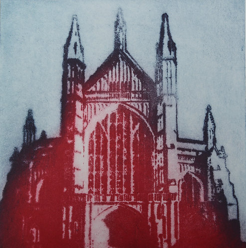 Winchester Cathedral IV - Aquatint Etching