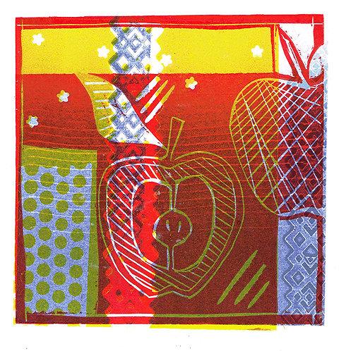 Stars & Stripes - Linocut