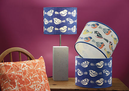 Tori McLean Designer Hand Screen Printed Lampsh