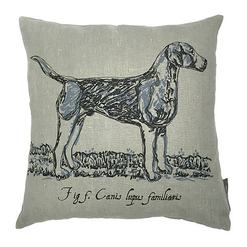 Hound Country Life Linen Cushion - Grey