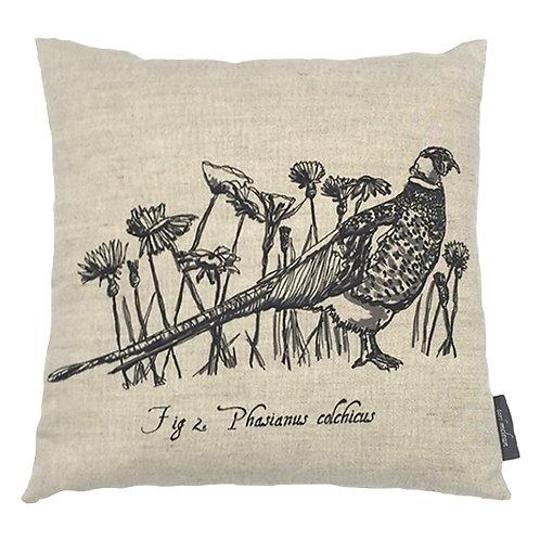 Pheasant Country Life Linen Cushion - Beige