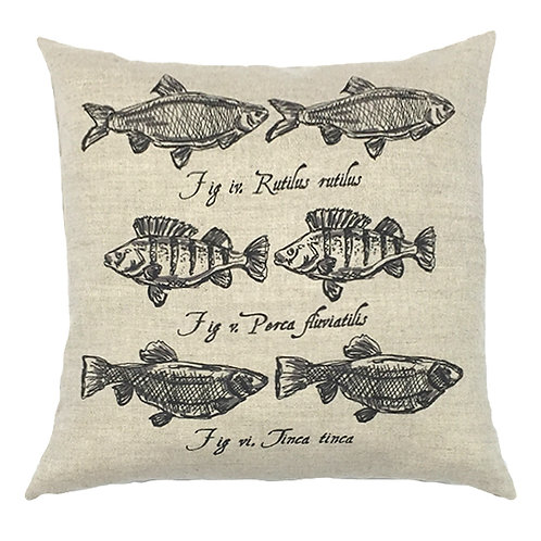 Perch Country Life Linen Cushion - Beige