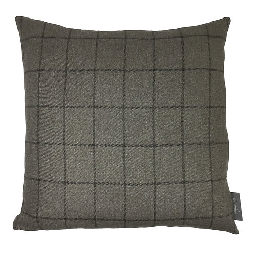 Country Life Lambswool Check Cushion - Beige
